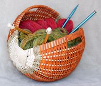 Irish Knitting Basket. I'm going to make one at the Fiber Event in Greencastle, IN April 20th 2012