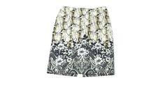 White House Black Market womens Snake Print Black Floral Career Skirt Size 10  #WhiteHouseBlackMarket #StraightPencil