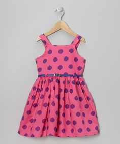 This Watermelon Polka Dot Belted Dress - Toddler & Girls is perfect! #zulilyfinds