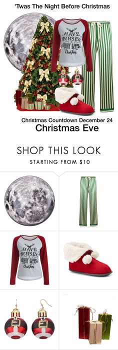 """""""''Twas the night before Christmas"""" by sparkle1277 ❤ liked on Polyvore featuring Seletti, Morgan Lane and Cuddl Duds"""