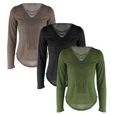 New Women's Ladies Loose Long Sleeve Casual Blouse Shirt Tops Tee Blouse