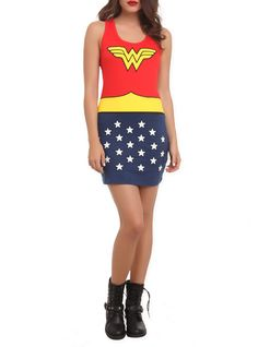 Wonder Woman dress.