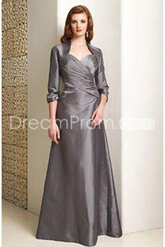 Graceful Pleats/Beaded A-Line Sweetheart Neckline Floor-length Mother of the Bride Dresses