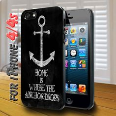 Anchor quotes Black Case for iphone 4 /