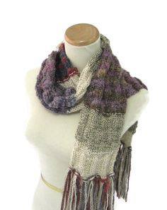 Shabby Chic Scarf Hand Knit Scarf Knit Scarf by ArlenesBoutique #knitscarf #winterscarf