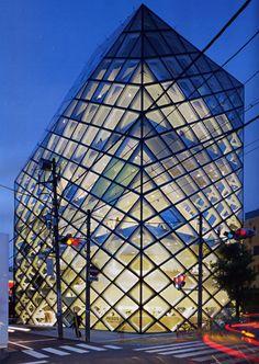 Prada Store (Epicenter) by Herzog and de Meuron, 2003  Address: 5-2-6 Minami-Aoyama  Minato-ku, Tokyo, Japan