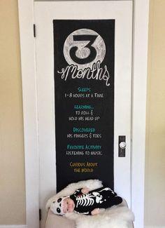 3 Months Old Chalkboard curlyqpaper.blogspot.com