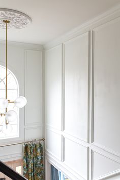 Two Story Entryway Reveal Panel Moulding, Wall Molding, Moldings, Crown Molding, Entryway Lighting, Entryway Decor, Exterior Vinyl Shutters, Farrow And Ball Paint, Two Story Foyer