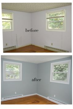 Dusty Miller Paint @ Glidden Painting my bedroom this color today! yipppppeeee! :)