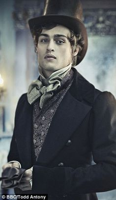 handsome actor Douglas Booth as Pip in the 2011 production of Charles Dicken's classic Great Expectations. this movie was very good, and Gillian Anderson as Miss Havisham. Style Steampunk, Steampunk Men, Steampunk Fashion, Steampunk Cosplay, Victorian Gothic, Victorian Fashion, Victorian Vampire, Victorian Gentleman, Victorian Costume