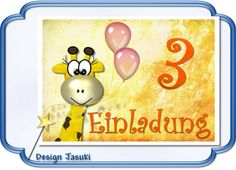 Einladungskarte Kindergeburtstag Giraffe von Jasuki auf DaWanda.com