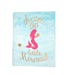 Hey, I found this really awesome Etsy listing at https://www.etsy.com/listing/233165699/dream-big-little-mermaid-girl-nursery
