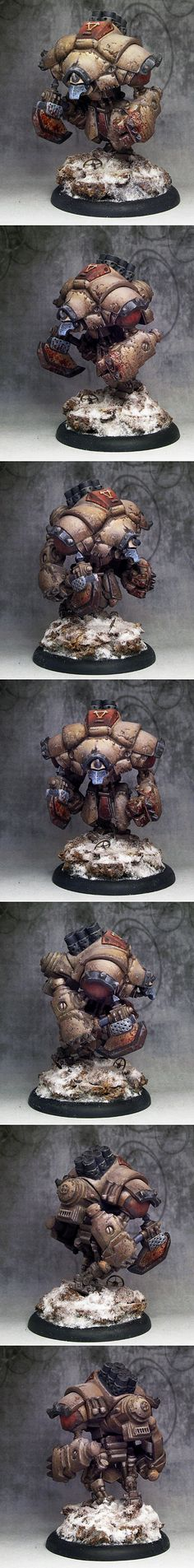 I really dislike privateer press models but I love the weathered paint paintjob