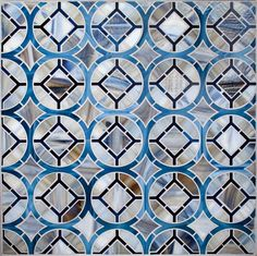 Oceanside Glasstile Mosaic ~Devotions Collection. Pattern is Cathedral #UniqueTile