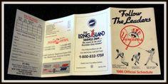 NEW YORK YANKEES 1986 LONG ISLAND BANK BASEBALL POCKET SCHEDULE FREE SHIPPING #Pocket #Schedule