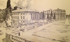 Chapter 13. Sweet Briar College in Amherst, VA. Drawing by the designers Cram Goodhue and Ferguson in the Colonial Revival Style.
