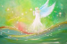 Limited angel art poster trust modern by HenriettesART on Etsy