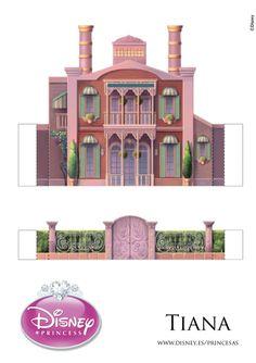 Buy exclusive Disney Princess dolls, toys, costumes & more. Disney Princess Castle, Princesa Tiana, Cardboard Model, House Template, Disney Printables, Disney Day, Putz Houses, Disney Crafts, Paper Toys