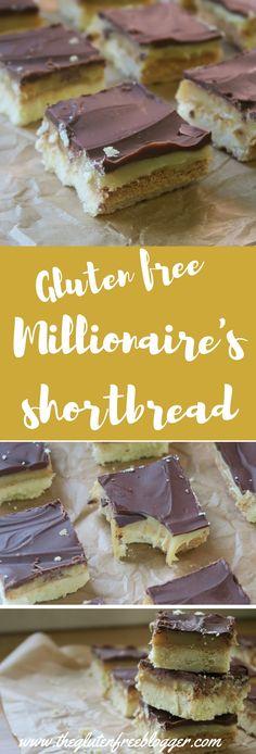 Gluten free millionaire's shortbread recipe - www.theglutenfreeblogger.com