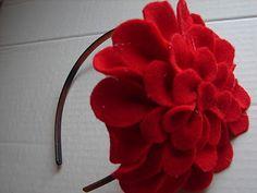 Giant felt flower headband tutorial