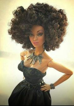 Natural hair Barbie!