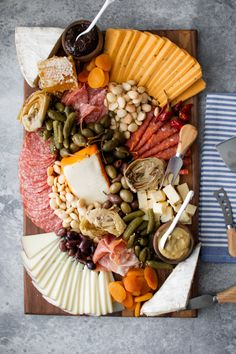 15 Drop-Dead-Gorgeous Charcuterie Boards to Elevate Your Dinner Party - crazyforus Charcuterie Recipes, Charcuterie Platter, Charcuterie And Cheese Board, Cheese Boards, Cheese Board Display, Chicken Liver Mousse, Meat And Cheese, Cheese Food, Asian Desserts