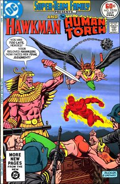 Super-Team Family: The Lost Issues!: Hawkman and The Human Torch (with Hawkgirl) One of mt favorite aspects of All-Star Squadron was the use of Hawkman's original helmet. - I had this All-Star Squadron