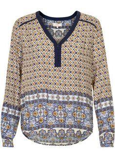 Cream Skjorte mønstret 10601799 Olivia Shirt - kit – Acorns