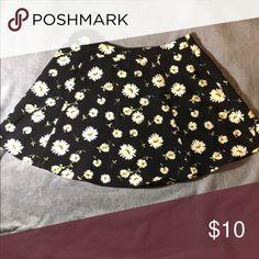 Flower skirt Black skater skirt with flowers Skirts Circle & Skater