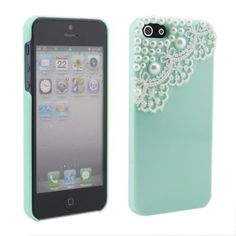 Modern Green Pearl Lace Ice Cream Hard Back Case Cover for Apple iPhone 5 by NEEWER, http://www.amazon.com/dp/B009JAE7NS/ref=cm_sw_r_pi_dp_0vW7qb1MDJPBT