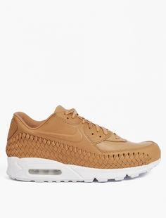 Nike,Air Max 90 Woven Sneakers,BEIGE,1
