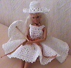 Robe de marié pour poupée Barbie ravie
