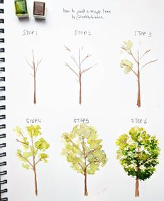 ��� NEW step by step! 😀 Today I am teaching you how to paint a maple tree the way I do. ✨ TI