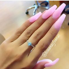 Long Pink Nails - HUDABEAUTY via Instagram