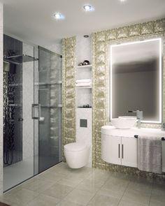 interior 3d de baño.
