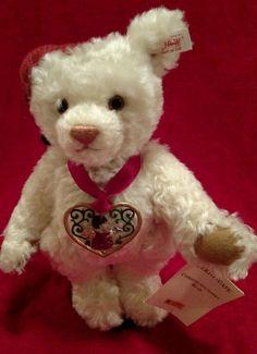 Mohair Steiff Christmas Christkindlmarkt Teddy Bear #666193  w Tags #Steiff