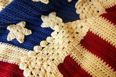 Ravelry: AFwifeCrochetNut's Vintage lace flag