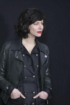 Anna Mouglalis in the perfect biker jacket