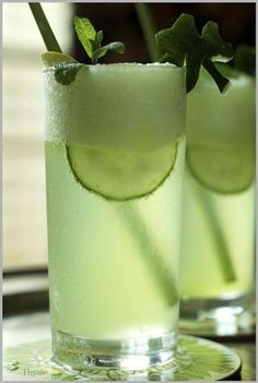 Honey Dew, Cucumber, Mint Mojito for St. Paddy's Day