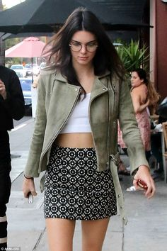 Gorgeous: Choosing to show off her natural beauty, Kendall's face looked to be wearing lit...