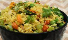 Bhojana Recipes: Puffed Rice  Vegetable Upma - The quickest breakfa...
