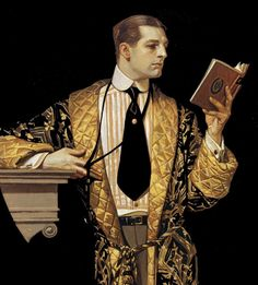 In 1914, the Leyendeckers, accompanied by Charles Beach, moved into a large home and art studio in New Rochelle, New York/ This is Charles, his favourite model and lover.