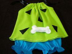 Halloween Costume Pebbles Flintstone Custom Sizes 3mo-4T