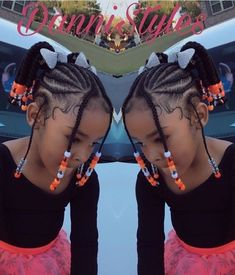 102 Awesome Kids Hairstyles You Have to Try Out on Your Kids Girls hairstyles braids Toddler Braids, Braids For Kids, Girls Braids, Kid Braids, Braids For Black Kids, Twist Braids, Girl Hair Braids, Kids Braids With Beads, Natural Hairstyles For Kids