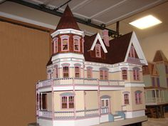 Finished Doll Houses with Furniture | Queen Anne Dollhouse Finished