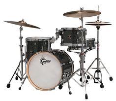 Gretsch Catalina Club 4 Piece Jazz Drum Set Kit Galaxy Black Sparkle Wrap with OSP Hardware Shop #SiglerMusic $679.99