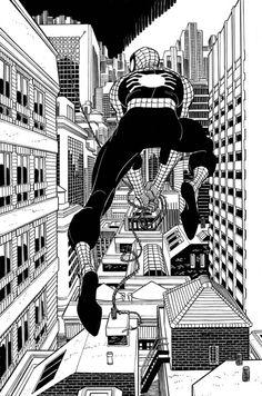 Spiderman by John Romita Jr Black And White Comics, Marvel Dc Comics, John Romita Jr, Comic Books Art, Spiderman Art, Marvel Comic Universe, Cool Art, Romita, Jr Art