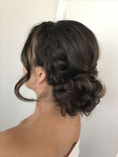 Frisur hochzeit Of Ladies Have Thinning Hair! Quince Hairstyles, Braided Hairstyles Updo, Prom Hairstyles, Pretty Hairstyles, Updo Hairstyle, Braided Updo, Prom Hair Updo, Bridal Hair Updo, Wedding Hair And Makeup