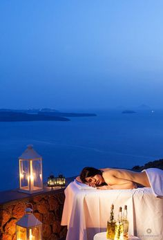 Luxurious spa treatments at the San Antonio Hotel perched on the cliffs of Santorini