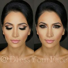 I like the shading on the eye makeup here. And the subtle lips, but enough to make them pop.